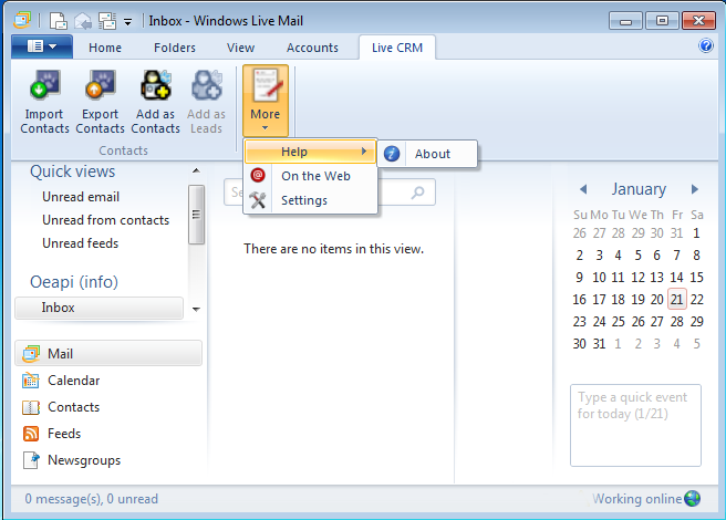 Windows Live Mail at searchando.com